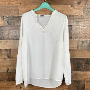 Neiman Marcus 100% Viscose blouse beaded sz:Lrg